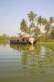 Casa galleggiante tradizionale, Alleppey, Kerala, India Fotografia Stock