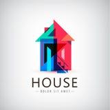 Casa geométrica colorida do vetor Fotos de Stock