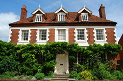 Casa Georgian Romsey Hampshire Fotos de Stock Royalty Free