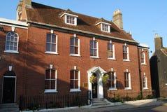 Casa Georgian Wimborne Dorset Fotos de Stock Royalty Free