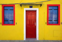 Casa gialla Fotografia Stock Libera da Diritti
