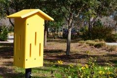 Casa gialla della farfalla Fotografie Stock