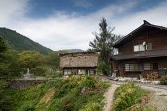 Casa giapponese tradizionale dell'azienda agricola Immagini Stock Libere da Diritti