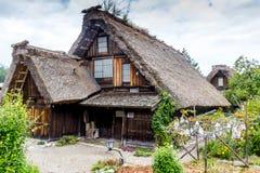 Casa giapponese tradizionale dell'azienda agricola Fotografia Stock Libera da Diritti