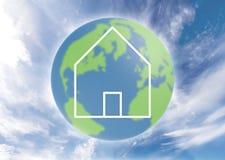 Casa globale illustrazione di stock