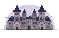 Casa gotica di configurazione di stile Immagini Stock Libere da Diritti