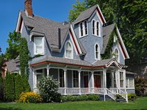 Casa gotica vittoriana immagine stock