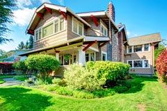 Casa grande com apelação bonita do freio Imagens de Stock Royalty Free