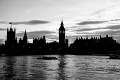 Casa grande de Ben Clock Tower y del parlamento en la ciudad de Westminster Fotografía de archivo