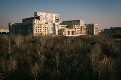 Casa grande en Bucarest imagen de archivo