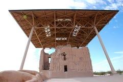 Casa Grande ruïneert Nationaal Monument Royalty-vrije Stock Afbeelding