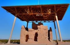 Casa Grande ruïneert Nationaal Monument stock foto's
