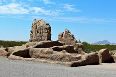 Casa Grande ruïneert Nationaal Monument Arizona royalty-vrije stock foto's