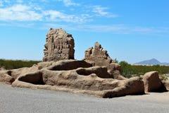 Casa Grande ruin Krajowy zabytek Arizona Zdjęcia Royalty Free