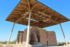 Casa Grande ruin Krajowy zabytek Arizona Fotografia Royalty Free