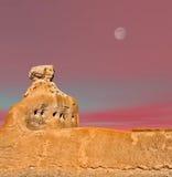 Casa Grande Ruins Moon Royalty Free Stock Photography