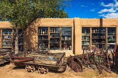 Casa Grande Trading Post and Mining Museum on the Turquoise Trail in New Mexico. Cerrillos, New Mexico, USA - October 16, 2018 : Casa Grande Trading Post and royalty free stock photography