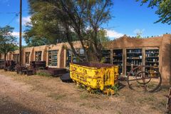 Casa Grande Trading Post and Mining Museum on the Turquoise Trail in New Mexico. Cerrillos, New Mexico, USA - October 16, 2018 : Casa Grande Trading Post and stock image