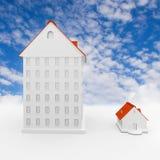Casa grande y pequeña Foto de archivo