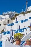 Casa greca con il terrazzo sulla collina Immagini Stock