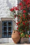 Casa greca tipica Fotografia Stock Libera da Diritti