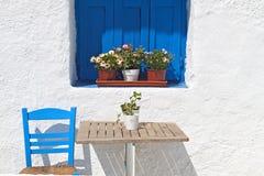Casa greca tradizionale fotografie stock