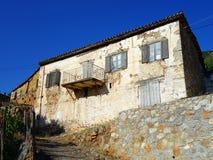 Casa grega de pedra velha Fotos de Stock Royalty Free