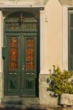Casa grega típica na ilha de Samos, Grécia imagem de stock