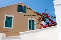 Casa griega tradicional de la isla Fotografía de archivo libre de regalías