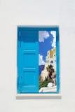 Casa griega tradicional en la isla de Mykonos fotografía de archivo