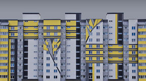 Casa gris Imagen de archivo libre de regalías