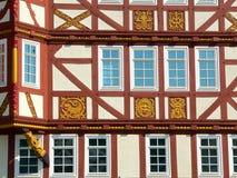 Casa half-timbered del detalle Imagen de archivo libre de regalías