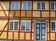 Casa Half-timbered in Faaborg Fotografia Stock