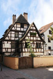 Casa Half-timbered, Strasburgo, l'Alsazia, Francia. Fotografie Stock