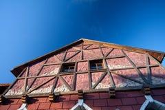 Casa Half-Timbered tradicional fotos de stock