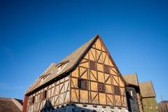 Casa Half-Timbered tradicional fotografia de stock royalty free