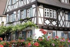 Casa Half-Timbered tradicional Fotografia de Stock
