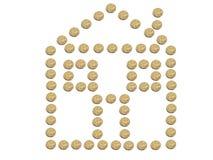 Casa hecha de monedas del dólar australiano Imagen de archivo