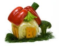Casa hecha de verduras frescas Imagen de archivo
