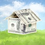 Casa hecha del dinero libre illustration