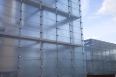 Casa hecha del vidrio Foto de archivo
