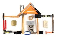 Casa hecha fuera de las herramientas Foto de archivo libre de regalías