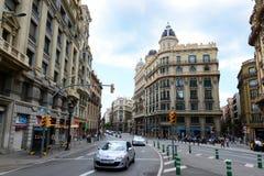 Casa Heribert Salas, alte Stadt Barcelonas, Spanien Stockbilder