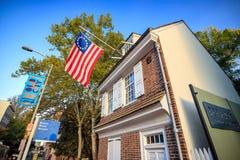 A casa histórica de Betsy Ross Imagens de Stock Royalty Free