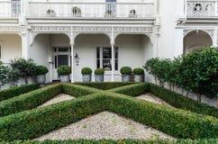 Casa histórica de la terraza en Melbourne del este en Australia imagenes de archivo