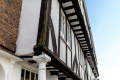 Casa histórica del estilo del tudor de la madera en la barra de Micklegate en York en Y imagen de archivo libre de regalías