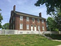 Casa histórica do tijolo vermelho Imagem de Stock
