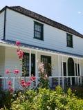 Casa histórica: Parte dianteira da estação da missão de Kerikeri Fotografia de Stock Royalty Free