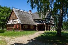 Casa histórica polaca del pueblo Imágenes de archivo libres de regalías