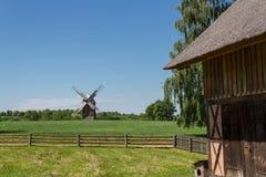 Casa histórica polaca del pueblo Imagenes de archivo